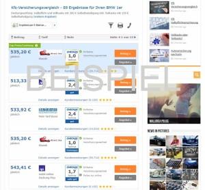 BMW 1er Versicherung Beispiel