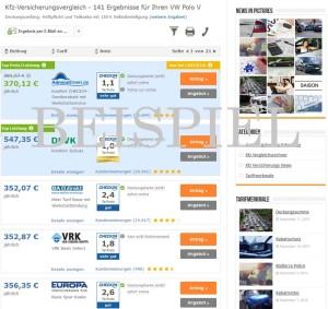 VW Polo Versicherung Beispiel
